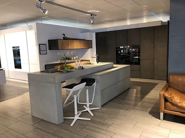 sonstige-musterküche massive beton kücheninsel
