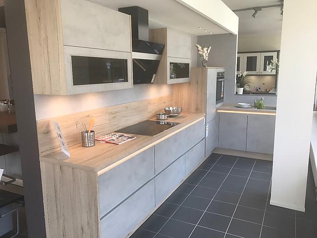 nobilia-musterküche l-küche in betonoptik