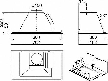dunstabzug dunstabzugshaube mit intigiertem motor da 2270. Black Bedroom Furniture Sets. Home Design Ideas
