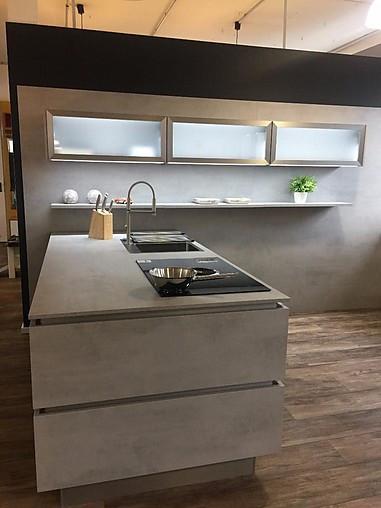 Nobilia Musterküche Elegante Küche In Beton Ausstellungsküche In