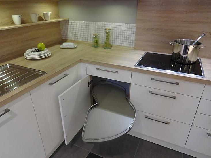 h cker musterk che wei hochglanz lack mit formkante. Black Bedroom Furniture Sets. Home Design Ideas