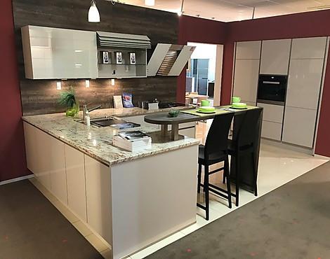 Xeno küchen xeno küche lack sand ultra hochglanz mit granitarbeitsplatte miele sowie bora
