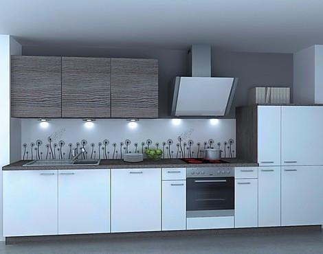Einbauküche lack matt weiß eiche polarsilber inkls 5 e geräte nolte küchen
