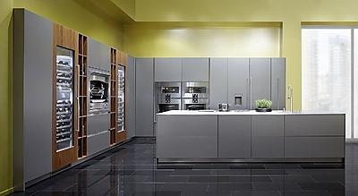 Designküche MILANO NUOVO mit grauen Fronten und Kücheninsel