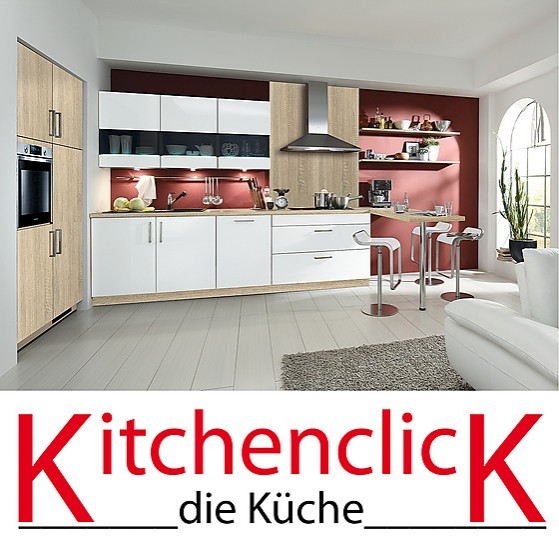 kitchenclick musterk che moderne k chenzeile mit theke ausstellungsk che in achern von k chen baum. Black Bedroom Furniture Sets. Home Design Ideas