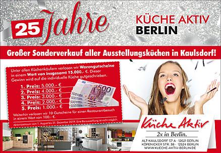 Sonderverkauf Ausstellungsküchen bei Küche Aktiv Berlin