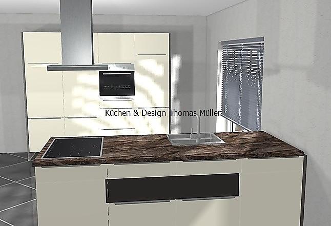 nobilia musterk che schwebende k che mit eingebauten hochschr nken inkl markenger te. Black Bedroom Furniture Sets. Home Design Ideas