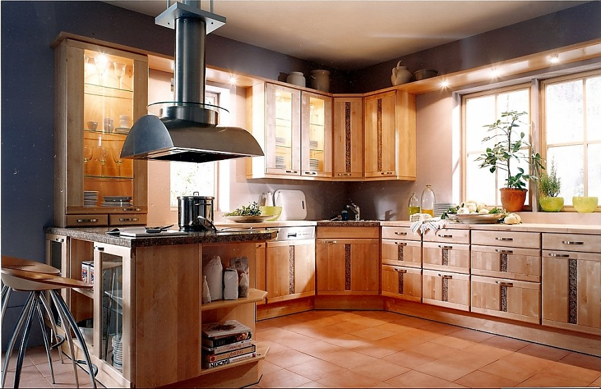 holzk chen erle. Black Bedroom Furniture Sets. Home Design Ideas