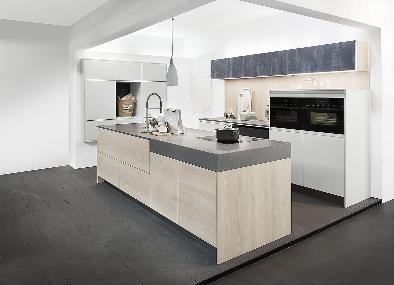 grifflose k che zerox daylight grey faggio und iron blue. Black Bedroom Furniture Sets. Home Design Ideas