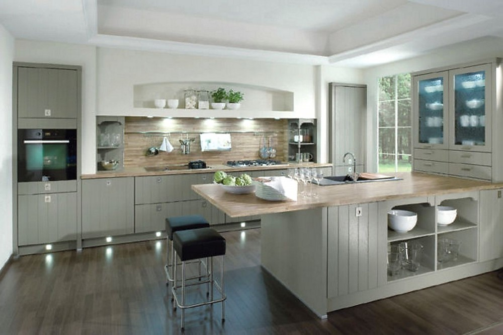 small kitchen design ideas uk inselk 252 che casa im landhausstil senkrecht geplankt in grau 8050