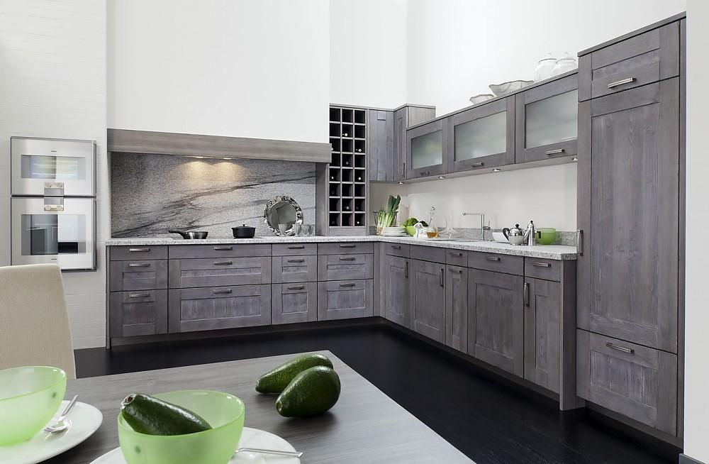 Küchen l form grau  Jütland Fichte Grau