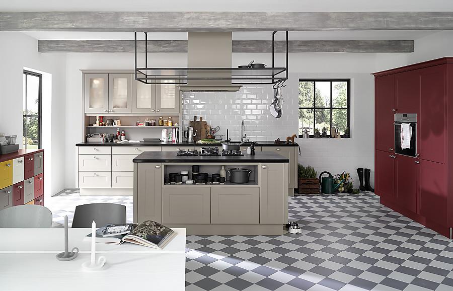 Romantische Küchen romantische landhausküche mit mit lack rahmenfronten