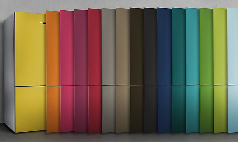 Bosch Kombi Kühlschrank : Bosch vario style kühlschränke mit farbigen fronten