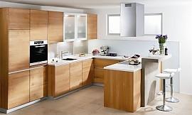 L-Form Küche aus Silberkirsche | {Moderne küche l form 35}