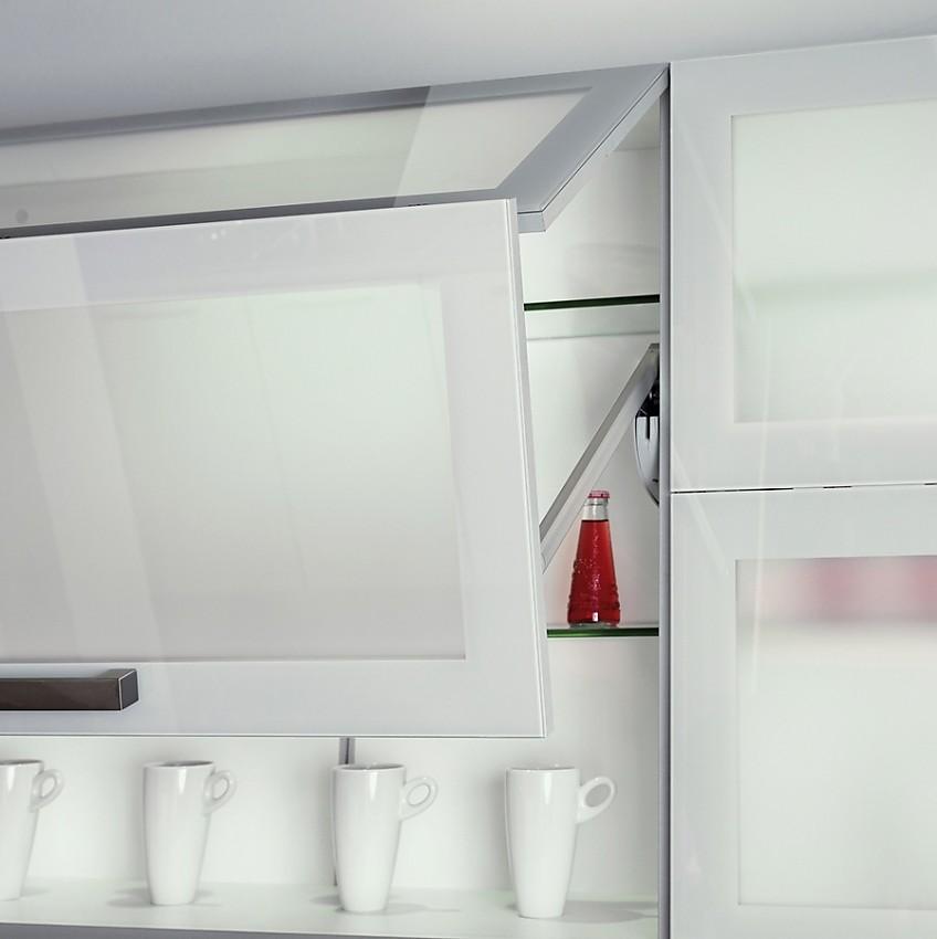 oberschrank mit milchglas liftt r. Black Bedroom Furniture Sets. Home Design Ideas
