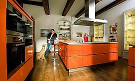 designküche art pia mit gerundeten kanten - Küche 70er Stil
