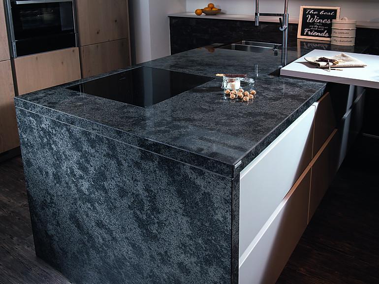 Kochinsel Arbeitsplatte wangen und stollen im design der arbeitsplatte küchenatlas