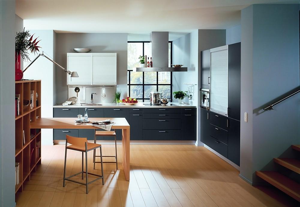 Kunststoff Küche proline 128 anthrazit kunststoff