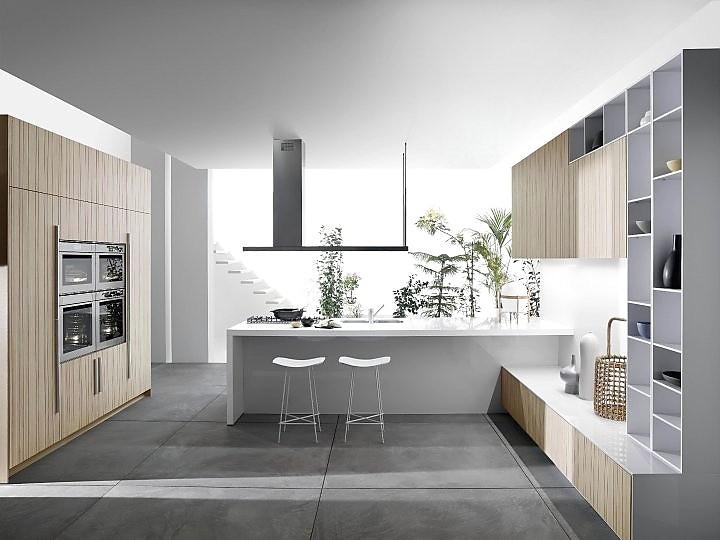 Küchen modern u-form  Modern gestaltete U-Küche mit zwei Theken