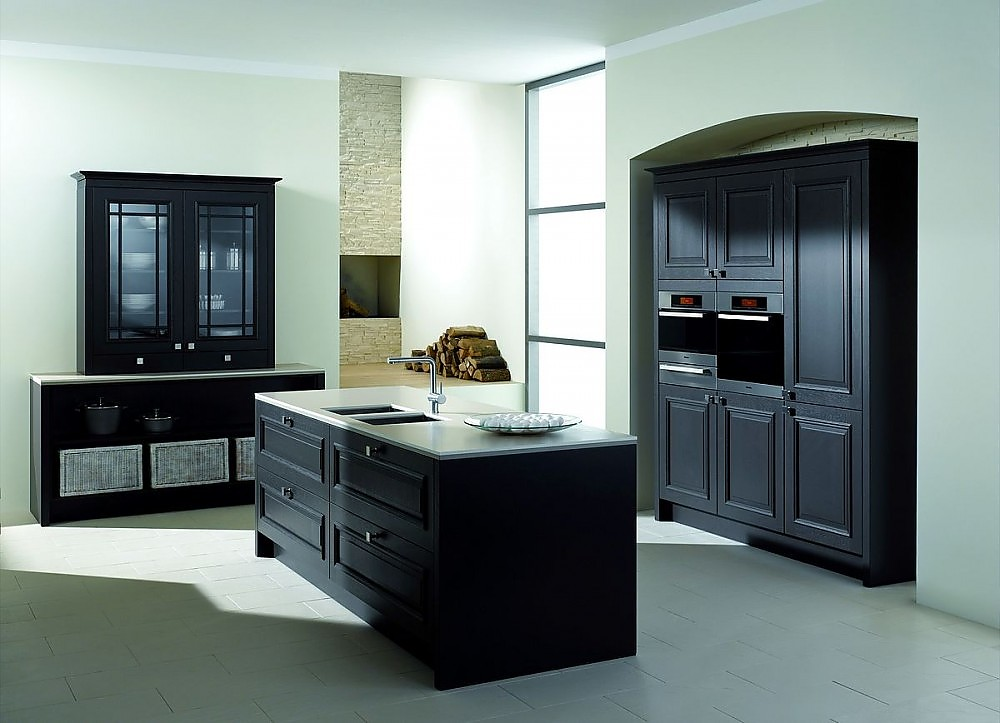 inselk che palermo in eiche terra rahmenfront massiv arbeitsplatte 10 mm vollkern mit k chenbuffet. Black Bedroom Furniture Sets. Home Design Ideas