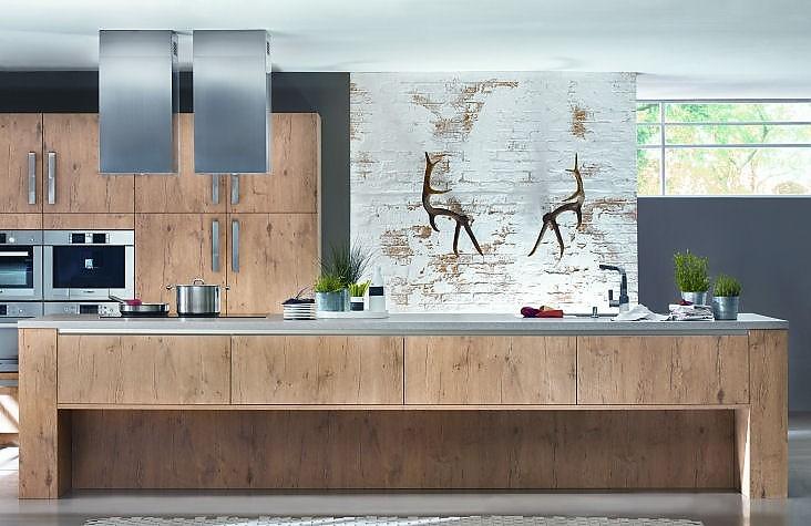 tischlerk che inselk che xl 1211 in holzdekor. Black Bedroom Furniture Sets. Home Design Ideas