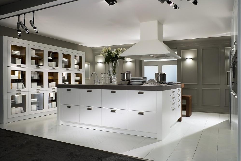 Klassische küche weiß  proline 128 weiß Mattlack