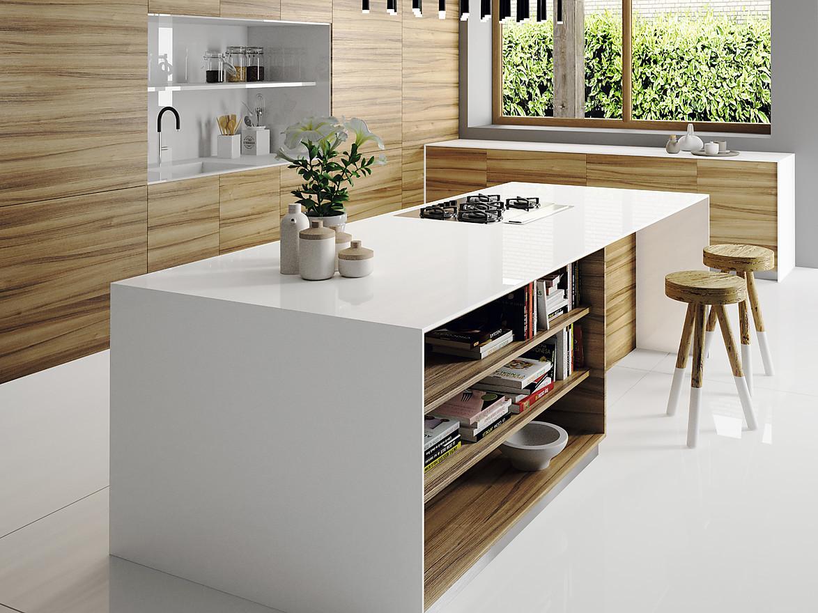 Kunststeinarbeitsplatten: Küchenarbeitsplatten aus Quarzkomposit