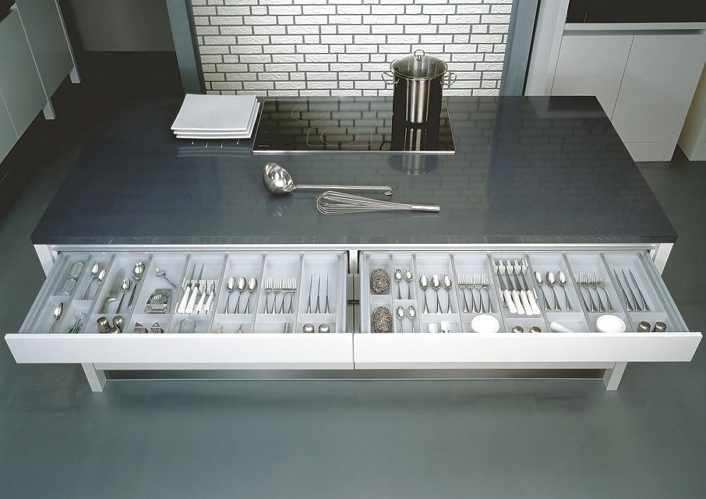 Kücheninsel Integra Nova HG mitübergroßen Schubladen