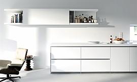 Küchenzeile design  Küchenzeile und Hochschränke Weiß lackiert