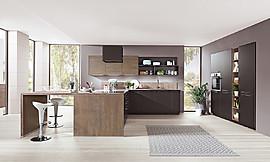 Moderne Kuche Im Industrial Stil Mit Beton Und Holzelementen