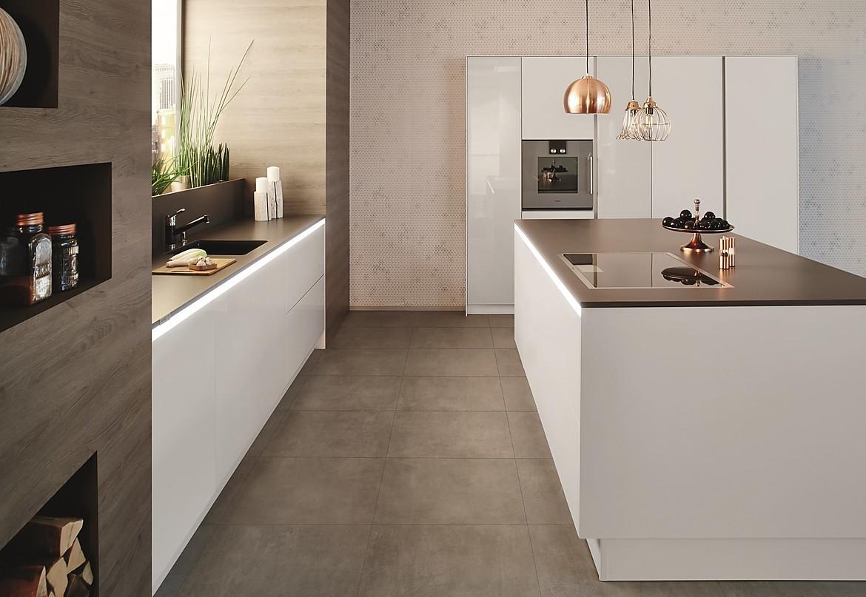 grifflose küche yline schwarzbraun, weiß