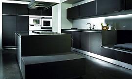 Küchenblock mit sitzbank  Designküche k7 in Kernbuche mit freistehendem Küchenblock
