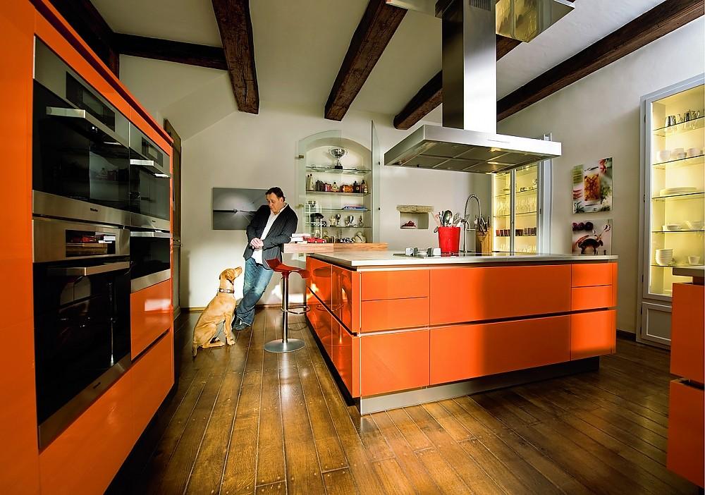 Hochglanz Orange - Private Profiküche