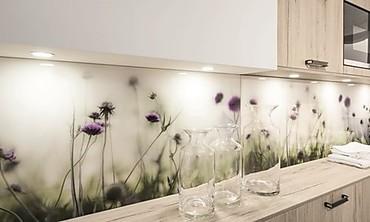K chenr ckwand aus glas praktische gestaltungsidee - Fliesenspiegel folie ...