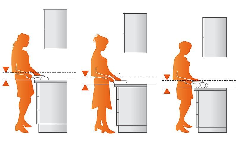 Die optimale Arbeitshöhe für die Küche | KüchenAtlas | {Küchenarbeitsplatte höhe 10}