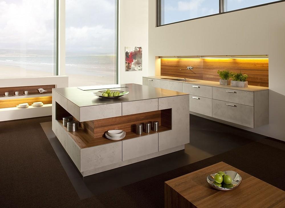 Küchen Insel chicago graubeton