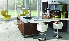 ... Offene Küche Mit Weißer Theke Zuordnung: Stil Moderne Küchen,  Planungsart Offene Küche (Wohnküche ...