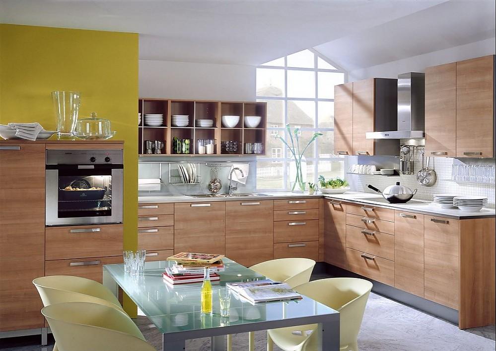 L-Form Küche aus Silberkirsche | {Moderne landhausküchen l form 41}