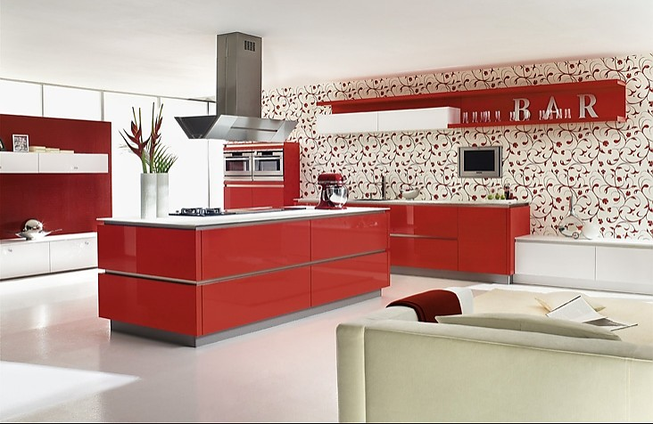 grifflose designinselk che gl 5690 in rot. Black Bedroom Furniture Sets. Home Design Ideas