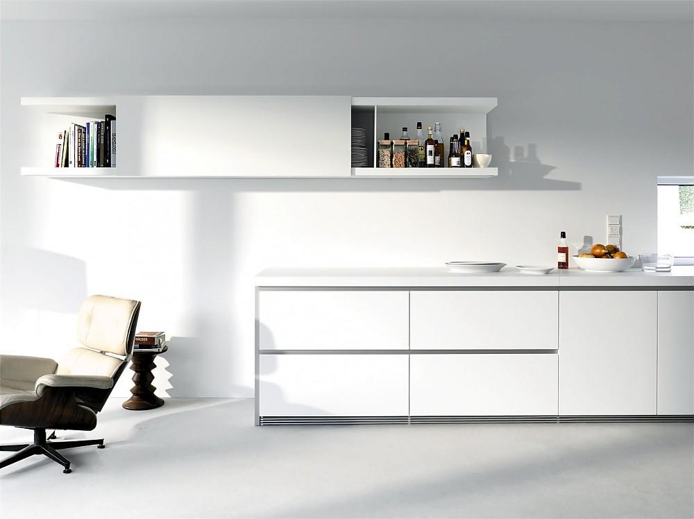 Küchenzeile Weiß grifflose design küchenzeile b1 in weiß