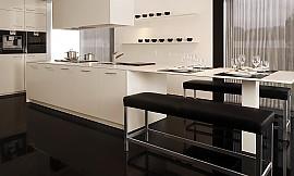 polarwei e k che mit bartheke. Black Bedroom Furniture Sets. Home Design Ideas