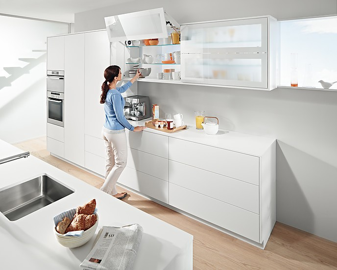 Küchenhängeschrank  Blum AVENTOS | Klappenbeschläge für den Hängeschrank