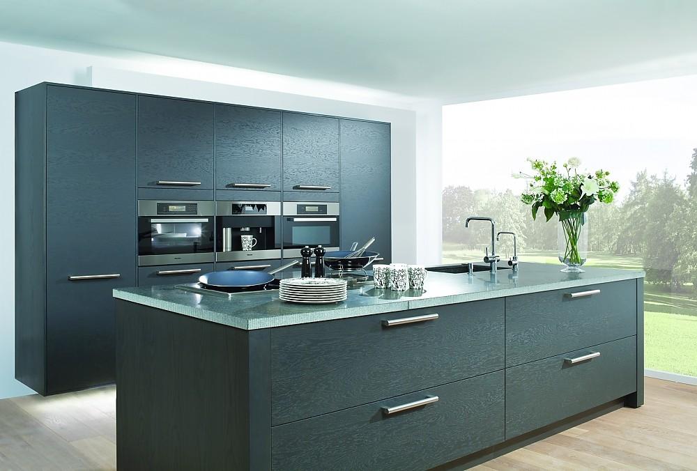 Moderne Kücheninsel proline basaltgrau