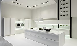 Inselküche Integra Nova HG in Hochglanz Grau