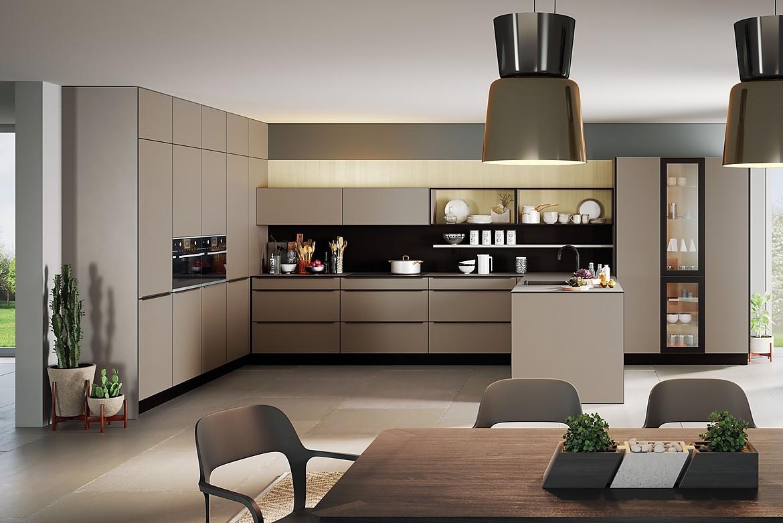 Designerküche in Erdfarben