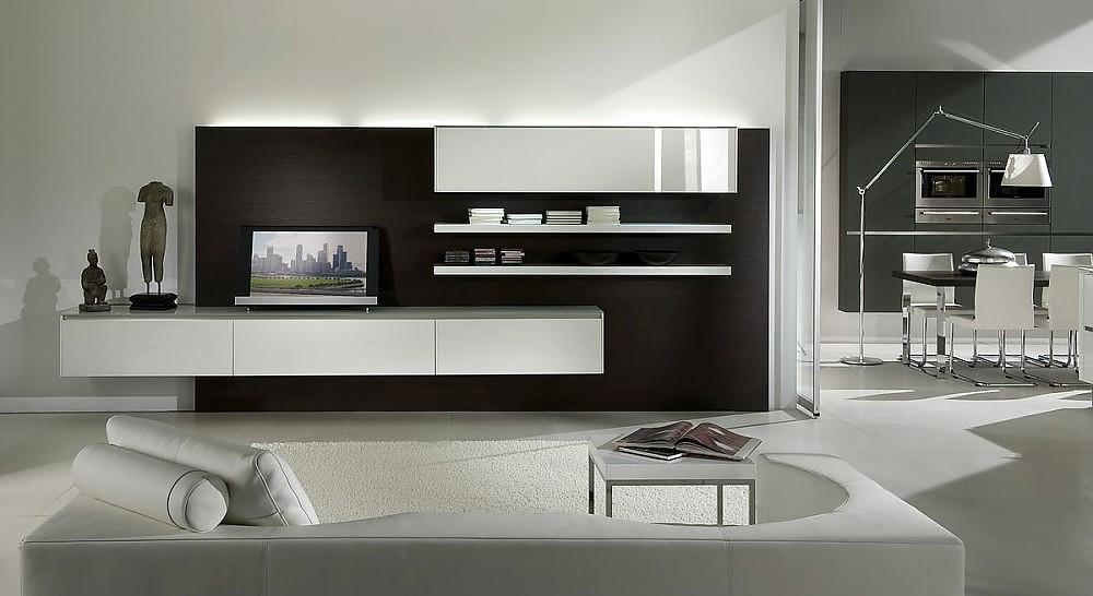 offene k che und wohnbereich in hochglanz wei und steingrau. Black Bedroom Furniture Sets. Home Design Ideas