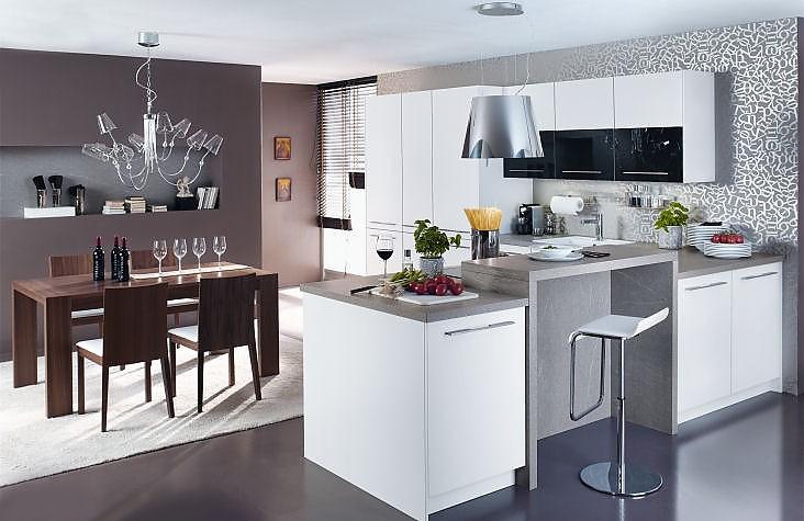 Küchenzeile mit Theke Zuordnung: Stil Moderne Küchen, Planungsart ...