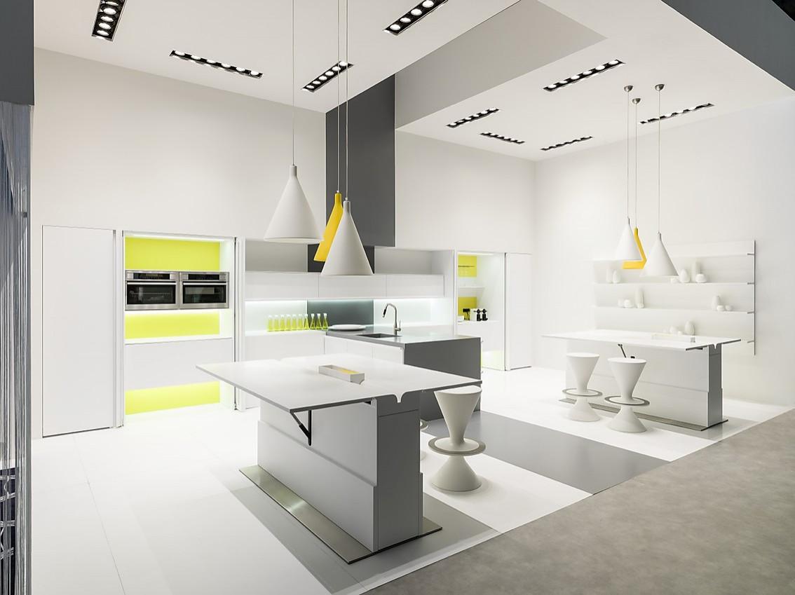 Rational küchen händler  Moderne Designküche in Weiß