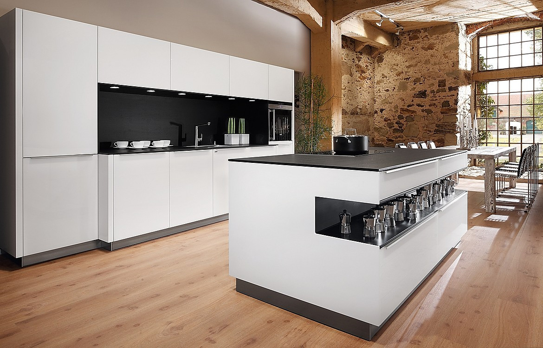 Runde Kücheninsel Rondo in Weiß