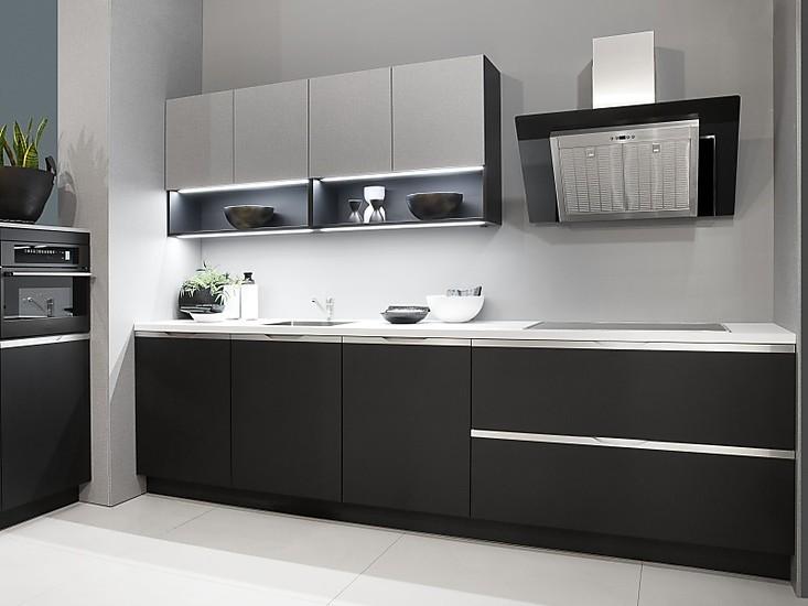 Toll Küchenzeile Mit Schwarzer Front Aus BioBoard Der GreenLine